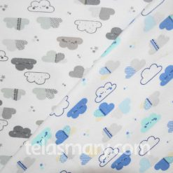 Interlock Estampado Nubes